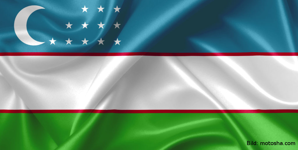 Flagge Usbekistan